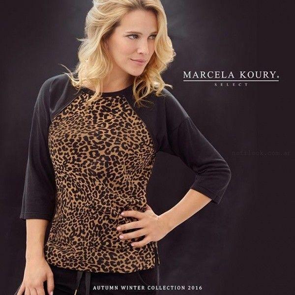 remera animal print  invierno 2016 Marcela koury select
