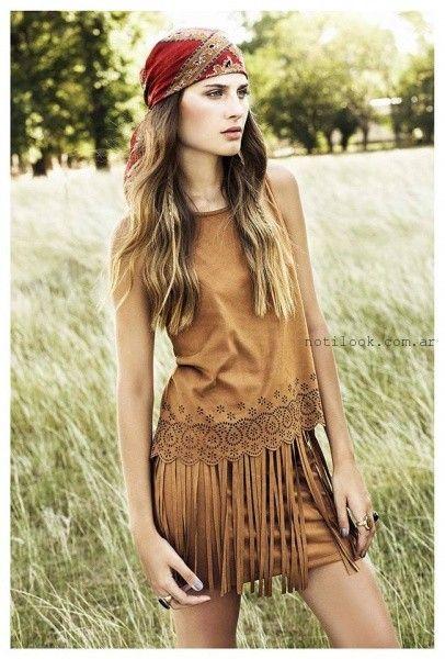 remera y pollera de tela ante Sans Doute otoño invierno 2016