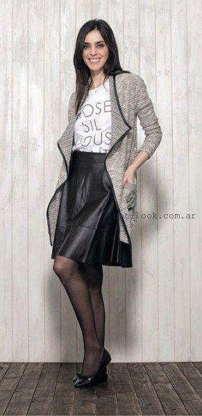 sacon tejido gris - Nucleo modas invierno 2016