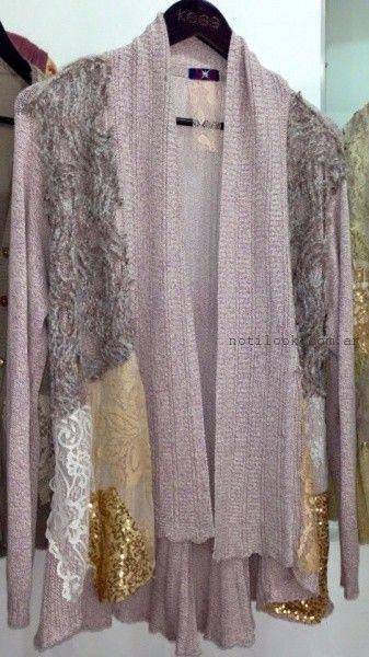 tejidos con apliques de encaje kees von kees otoño invierno 2016