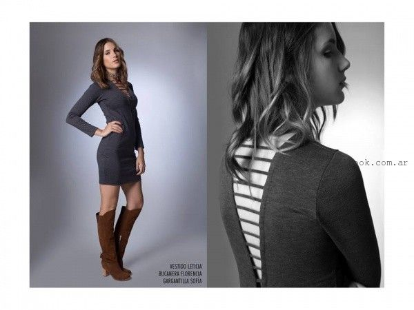 vestido corto de dia mangas largas  la cofradia invierno 2016