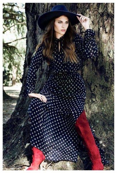 vestido largo de dia Sans Doute otoño invierno 2016
