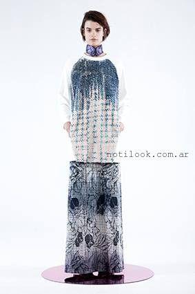 vestido largo de dia  tramando otoño invierno 2016
