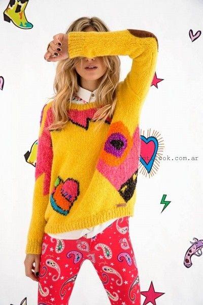 Agustina Saquer - Sweater tejidos amarillos otoño invierno 2016