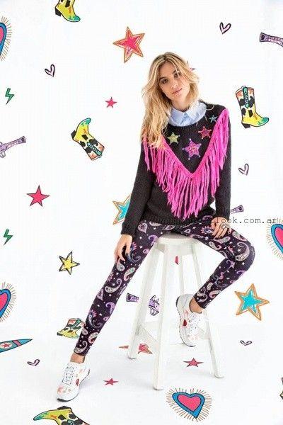 Agustina Saquer - Sweater tejidos con flecos otoño invierno 2016
