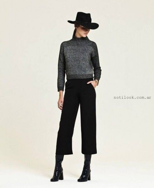 Crop Pant negro invierno 2016 - AG Store