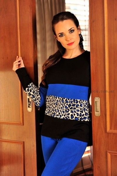 Di Madani Sweaters con estampa animal print invierno 2016