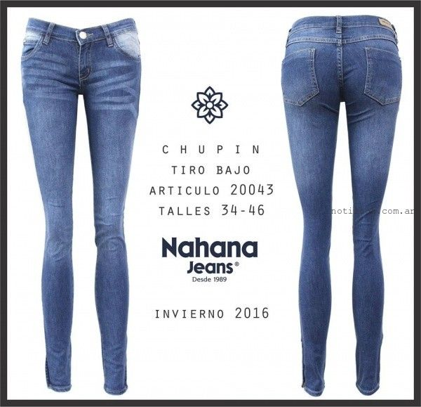 Nahana Jeans invierno 2016 jeans chupin tiro bajo