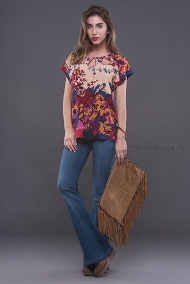 blusa estampada  alma jeans otoño invierno 2016
