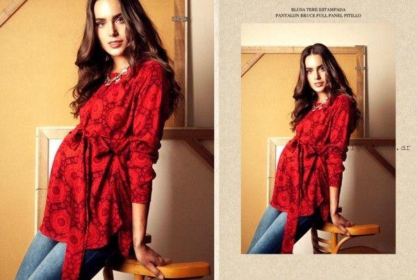 blusa estampda para embarazadas Maa Maternity invierno 2016
