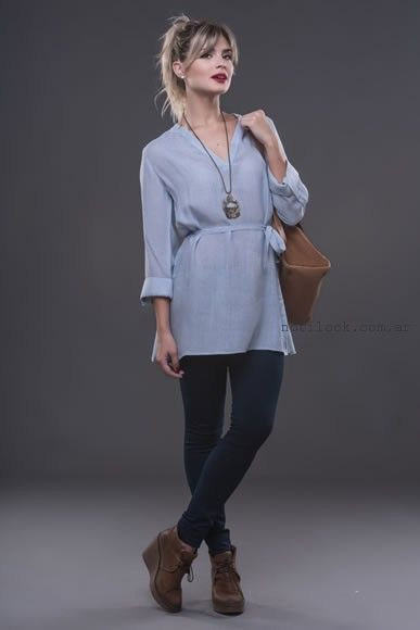 blusa larga alma jeans otoño invierno 2016