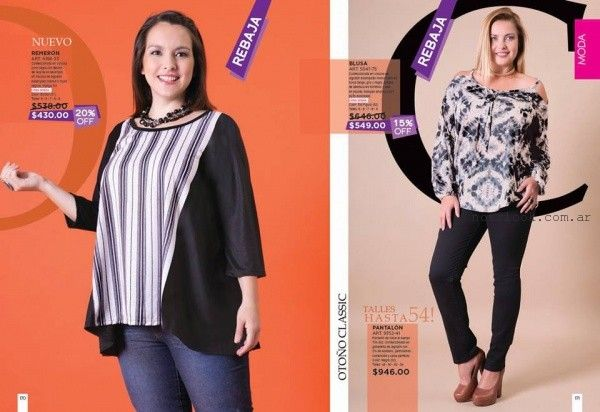 blusas de sedas talles grandes Juana Bonita otoño invierno 2016