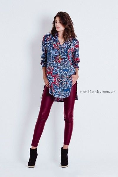 blusas para usar calzas engomadas tibetano invierno 2016