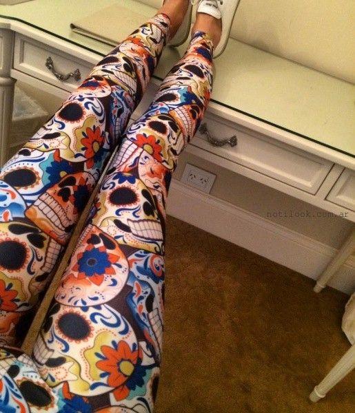 calzas estampadas invierno 2016 Roberta Basics