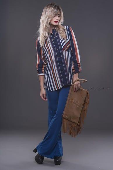 camisa a rayas para mujer alma jeans otoño invierno 2016