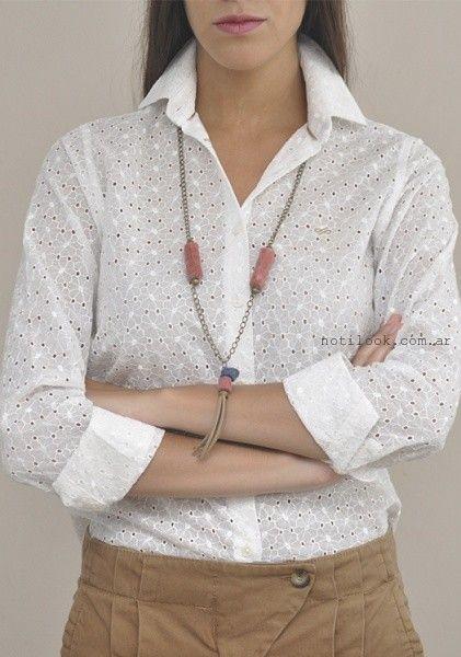 camisa de broderie blanca las taguas invierno 2016