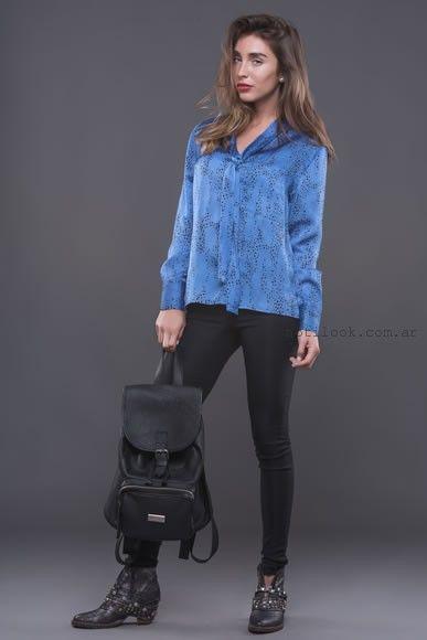 camisa de seda alma jeans otoño invierno 2016