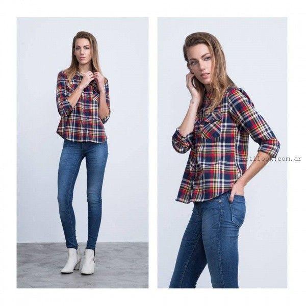 45b83b323 camisa escocesa para mujer invierno 2016 Buryak – Moda Mujer Argentina