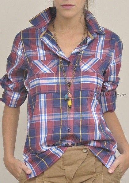 camisa para mujer estilo leñador las taguas invierno 2016