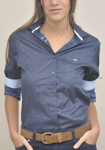 camisa tela poplin estampada las taguas invierno 2016