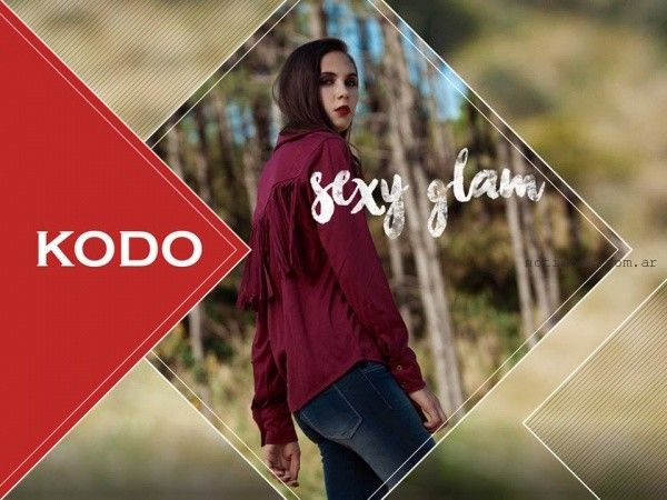 camisas con flecos  Kodo Jeans invierno 2016