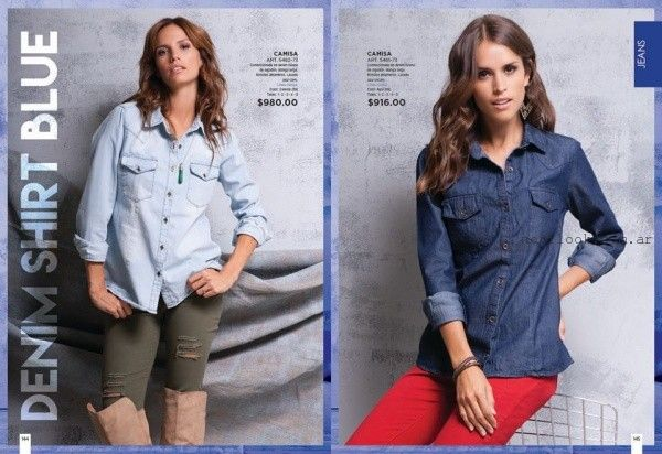 camisas de jeans mujer Juana Bonita otoño invierno 2016