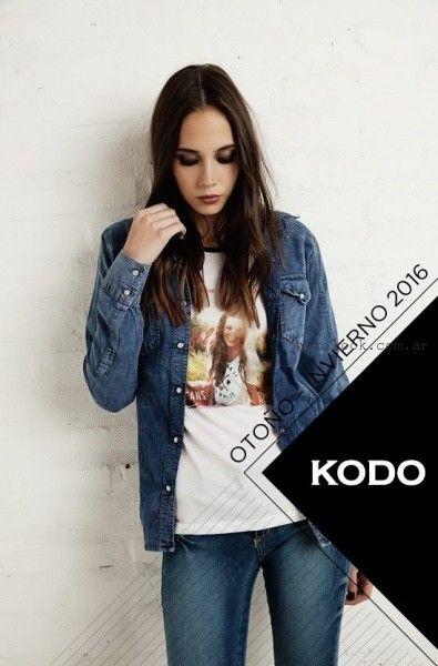 camisas de jeans mujer  Kodo Jeans invierno 2016
