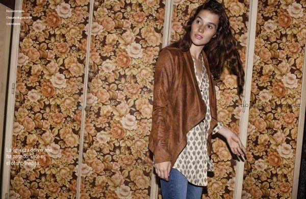 camisola jeans y campera gamuza otoño invierno 2016 - Inedita Argentina