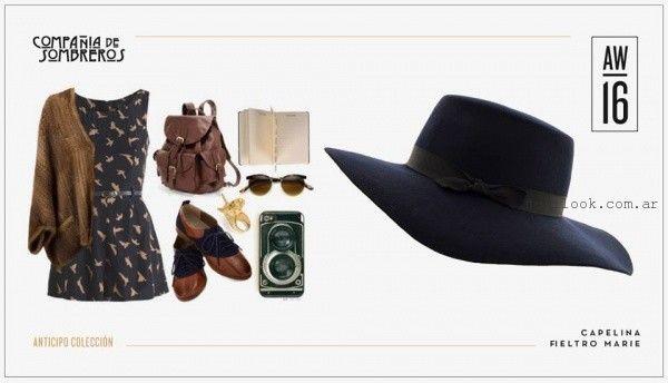 capelina de fieltro invierno 2016 compañia de sombreros