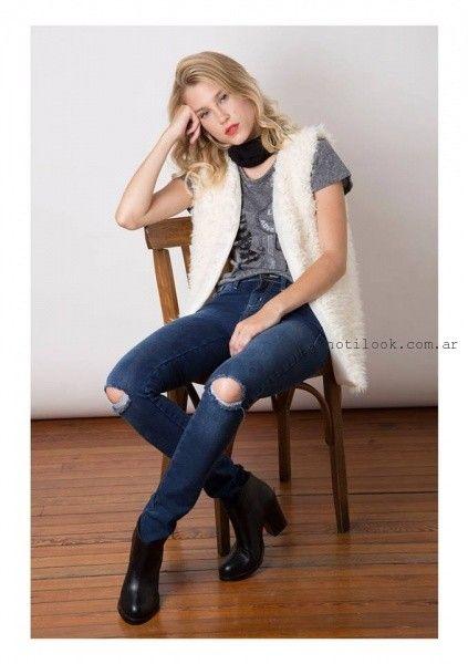 chaleco de moda blanco Nuara invierno 2016