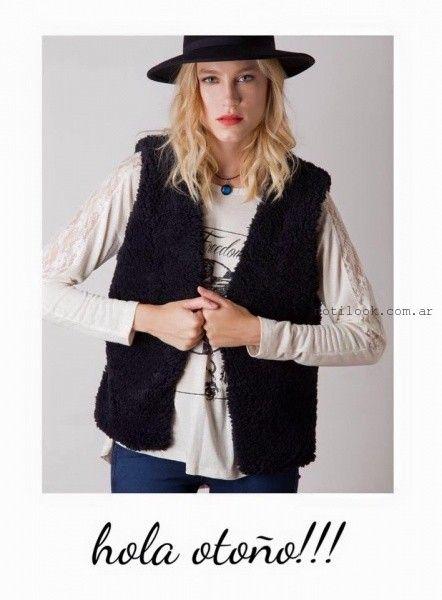 chaleco negro de moda nuara invierno 2016