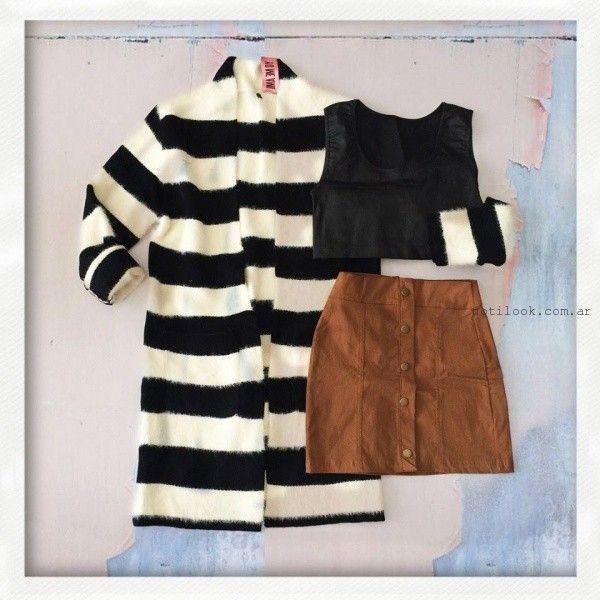 falda de gamuza abotonada invierno 2016 yo me amo