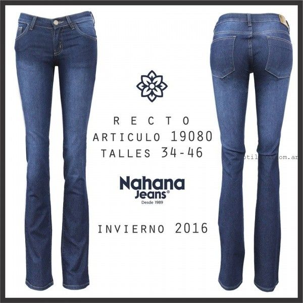 jean rectos Nahana Jeans invierno 2016