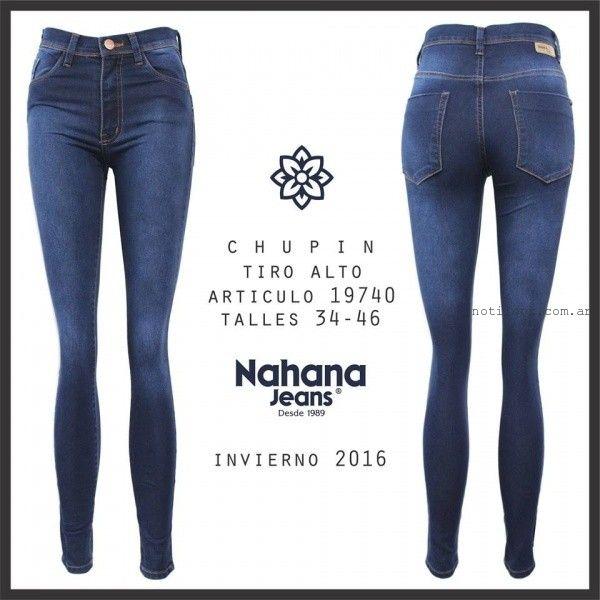 jeans chupin tiro alto Nahana Jeans invierno 2016