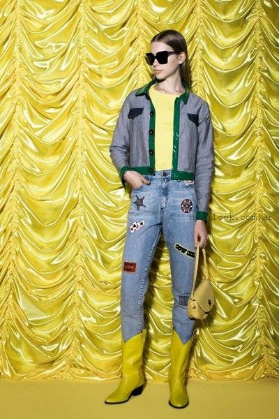 jeans con apliques juvenil invierno 2016 kimeika