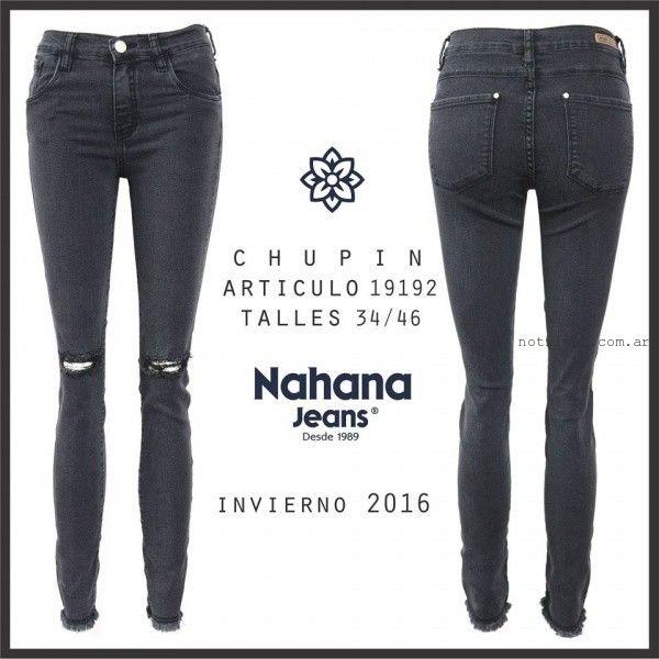 jeans con roturas Nahana Jeans invierno 2016