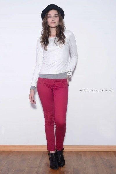 jeans elastizado fucsia  viga Jeans invierno 2016