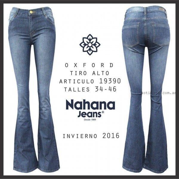 jeans oxford tiro alto Nahana Jeans invierno 2016