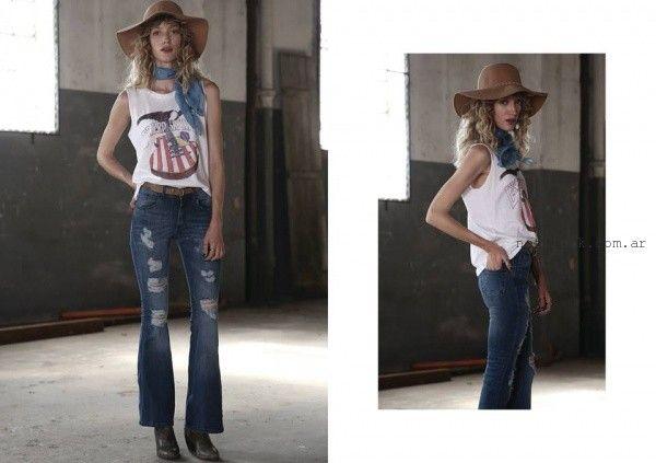 jeans roto oxford  Riffle jeans invierno 2016