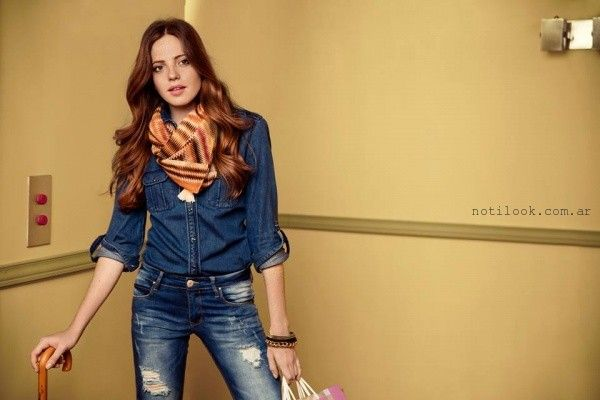 look total denim Scombro Jeans invierno 2016