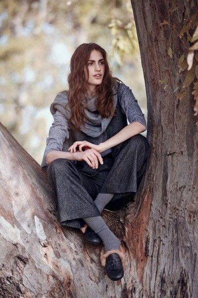 pantalon de vestir y chaleco mujer invierno 2016 - Cacharel