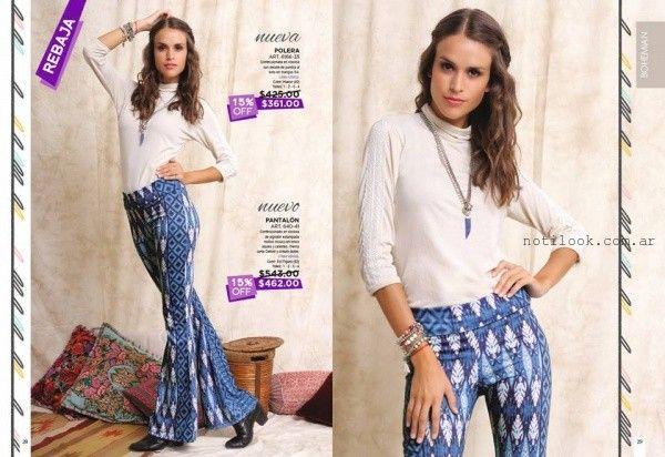 pantalon oxford estampado Juana Bonita otoño invierno 2016