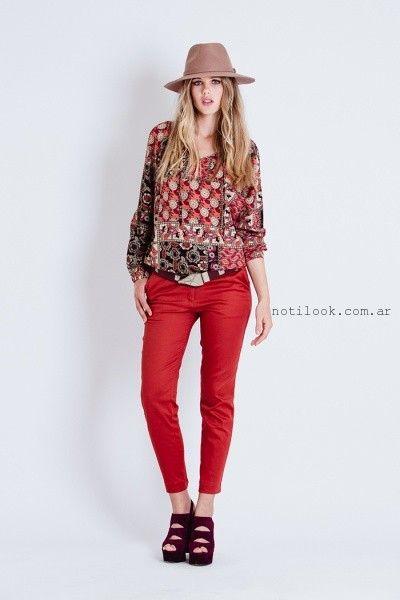 fe6a0fe05 pantalon rojo engomado tibetano invierno 2016 – Moda Mujer Argentina