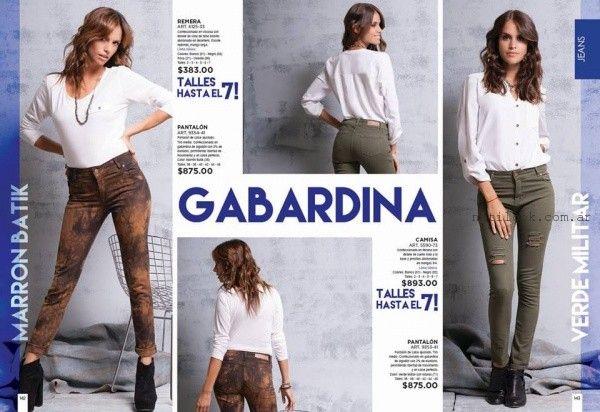 pantalones de gabardina Juana Bonita otoño invierno 2016