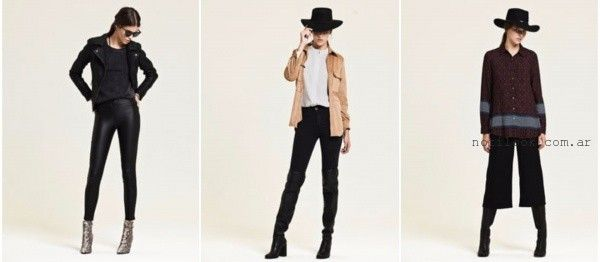 pantalones negros de moda invierno 2016