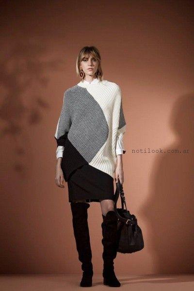 poncho tejido para mujer Carmela Achaval invierno 2016