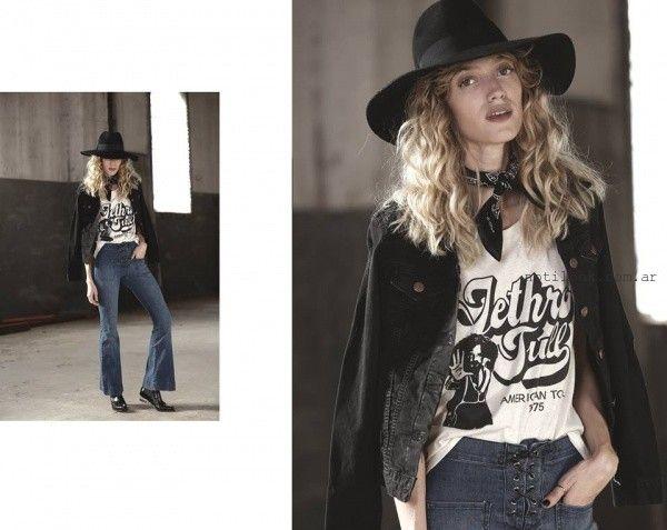 remeras con impresiones  Riffle jeans invierno 2016