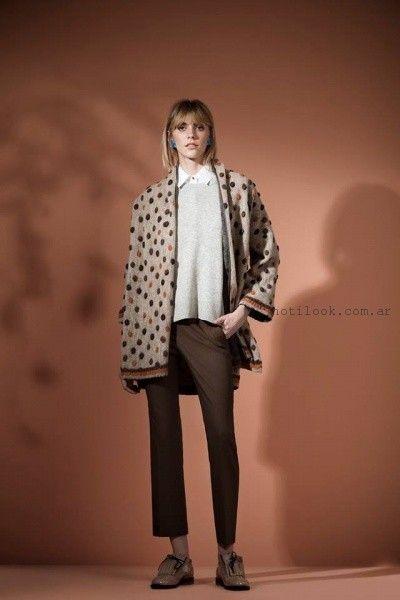 saco estilo kimono Carmela Achaval invierno 2016