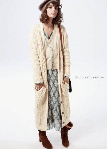0f225bb24 saco largo tejido invierno 2016 Debora Buttarelli – Moda Mujer Argentina