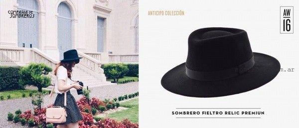 sombrero para mujer fieltro  invierno 2016 compañia de sombreros